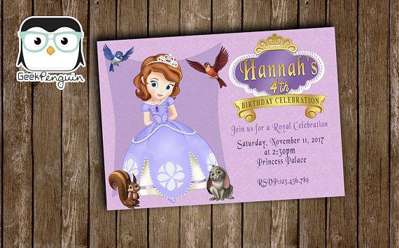 Sofia de eerste uitnodiging uitnodiging van Prinses Sofia