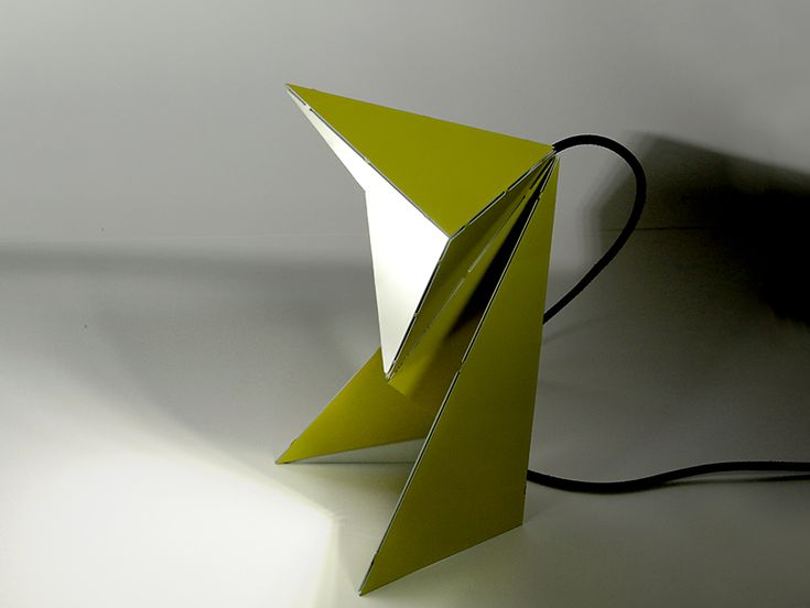 How awesome is this folded origami table lamp by mirco kirsch