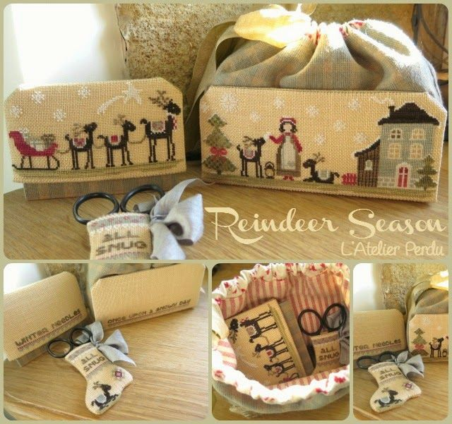 My Christmas Stocking : Reindeer Season, a cross-stitch design by L'Atelier Perdu
