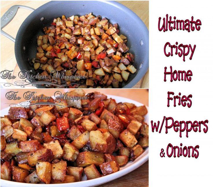 Ultimate Crispy Home Fries, Breakfast, Potatoes, Onions, Peppers