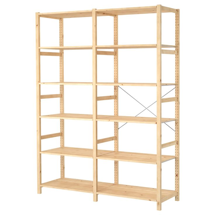 IVAR 2 section shelving unit, pine   Pinterest