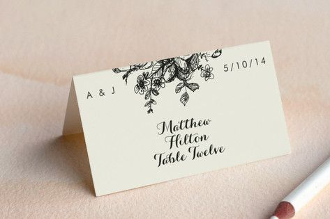 Elegance Illustrated Wedding Place Cards