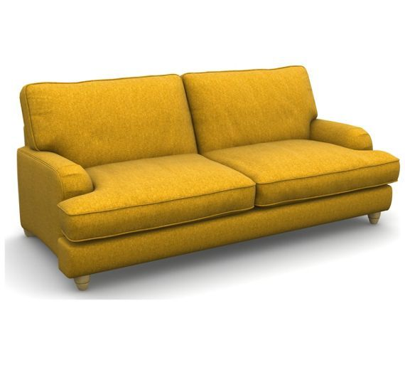 buy heart of house adeline 3 seater tweed fabric sofa mustard at argosco - Etagenbett Couch Lego Film