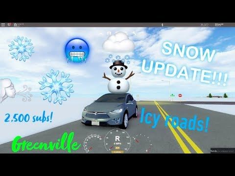 SNOW UPDATE ON GREENVILLE!!! (ROBLOX GREENVILLE) | i saw the pin