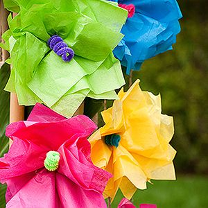 Tropical tissue paper flowers (links to instructions)