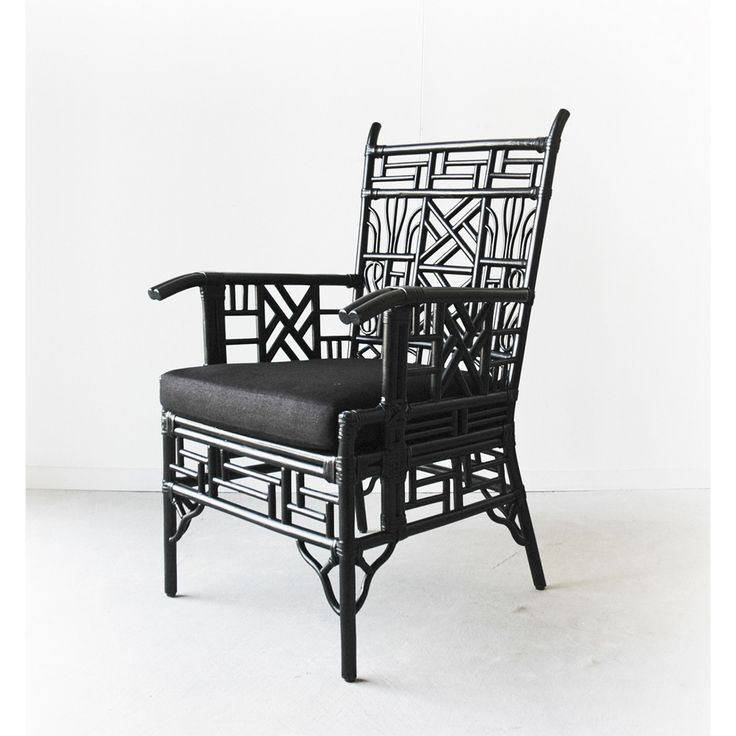 Mandarin Chair from Ambience Store. This beautifully crafted Chinese inspired Mandarin Occasional Chair is a great used as an accent piece or dining chair. Made from rattan with rawhide bindings.