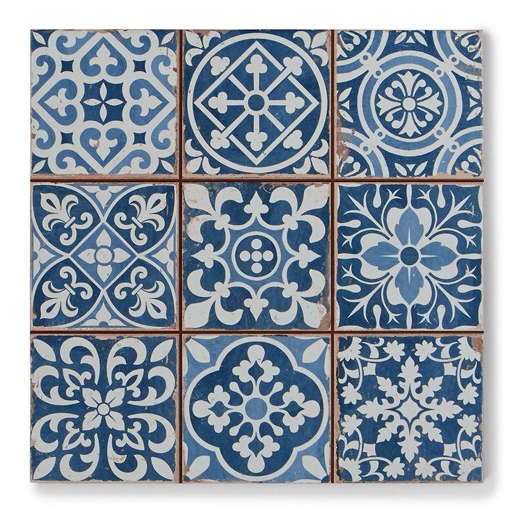 Tapestry Blue | Patterned Tiles | Porcelain Superstore