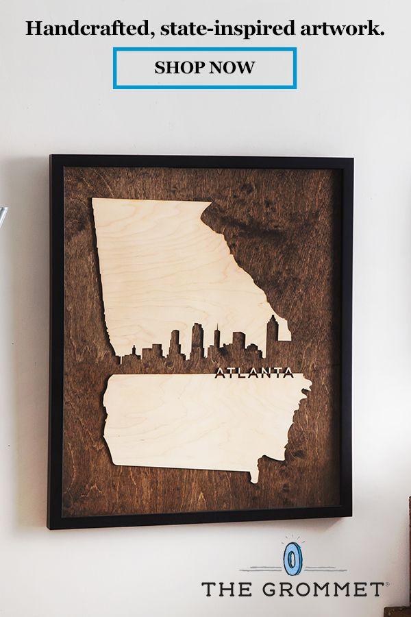 Framed Cityscape State Art Virginia Richmond Small Unique