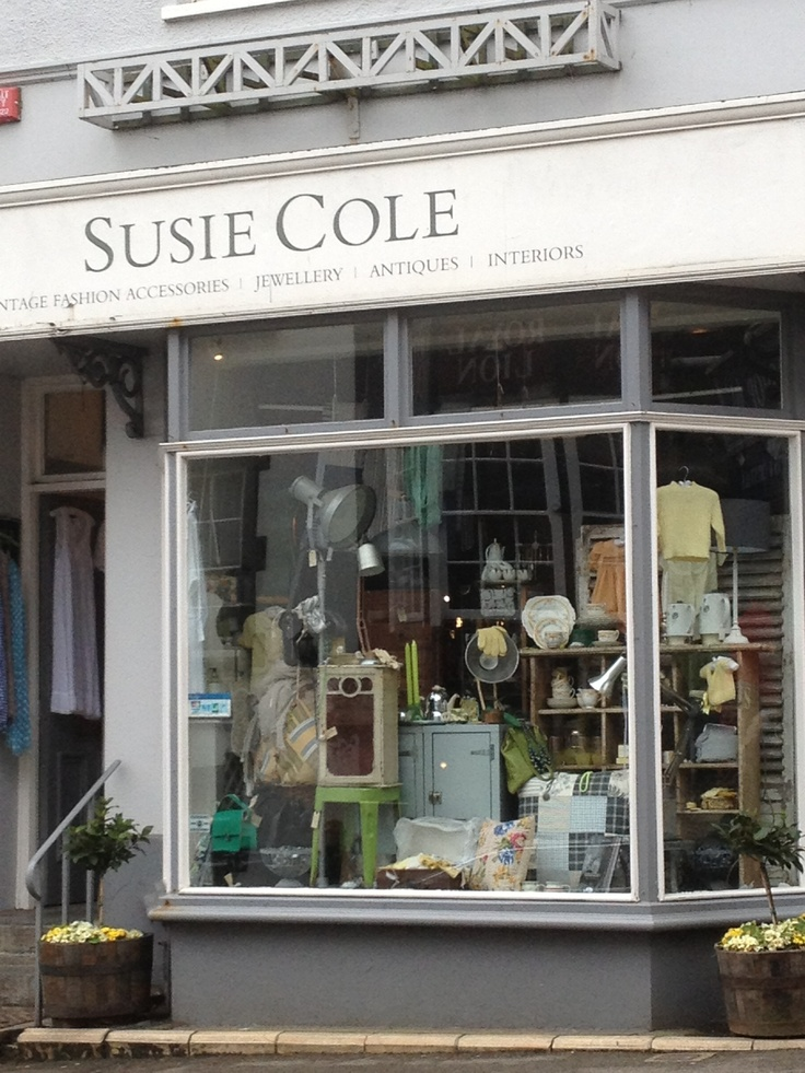 Lovely window dressing of favourite shop in Lyme Regis