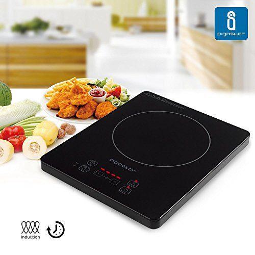 Aigostar Blackfire 30IAV – Plaque de cuisson à induction portable, contrôle tactile, 2000 W, 10 niveaux de puissance: Contrôle tactile, 10…