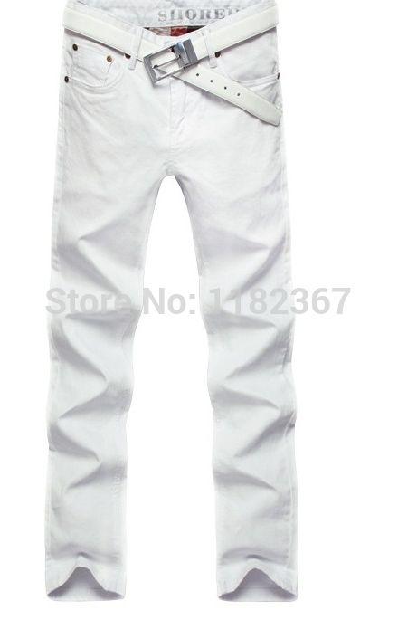 Купить Высокое качество! Мужские джинсы марка 2014 лето новинка тонкий прямой хлопок джинсовые брюки дизайнер белые джинсы мужчины размер : 28   36и другие товары категории Джинсыв магазине True MaretнаAliExpress. дёинсы муёские и сумка jean