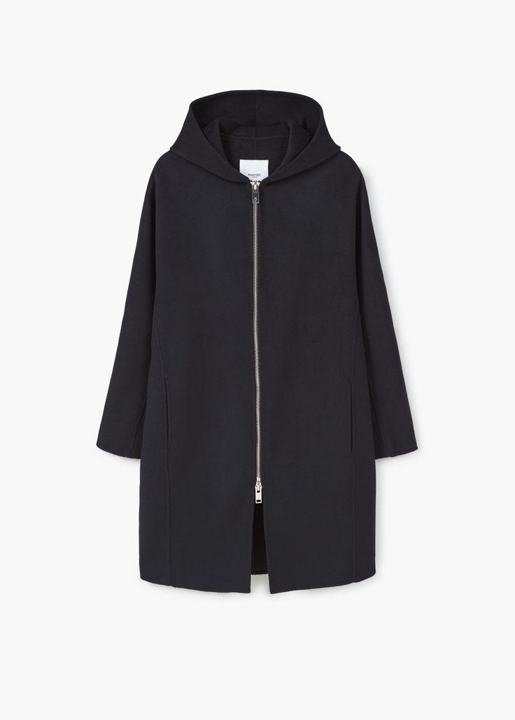 Abrigo lana oversize | MANGO