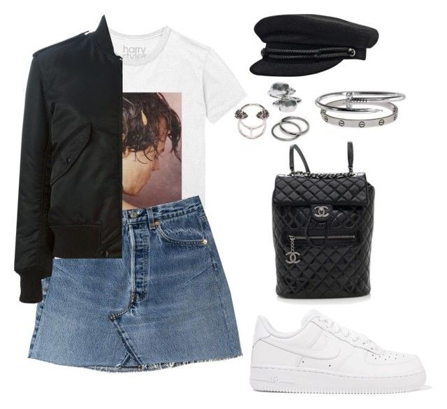 """""""Untitled #1148"""" by elipenaserrano ❤ liked on Polyvore featuring Yves Saint Laurent, NIKE, Chanel, Cartier, Alexander McQueen and Pieces"""
