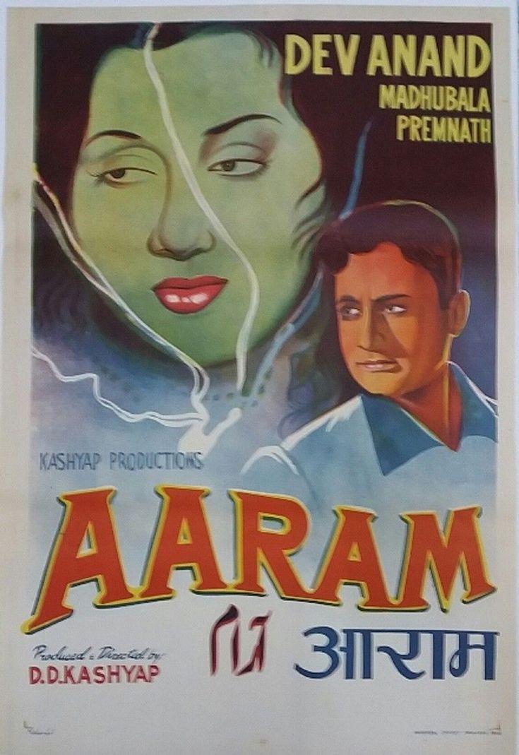INDIAN VINTAGE OLD BOLLYWOOD MOVIE POSTER-AARAM /DEV ANAND MADHUBALA /1951   Entertainment Memorabilia, Movie Memorabilia, Posters   eBay!