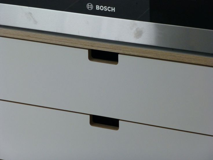 kitchen with cut away drawer handles - Google Search