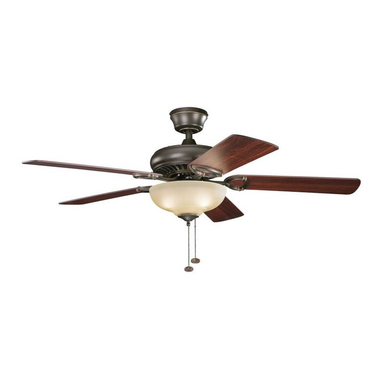 """Kichler 339211 52"""" Indoor Ceiling Fan with Blades Downrod and Pull Chain Olde Bronze Fans Ceiling Fans Indoor Ceiling Fans"""