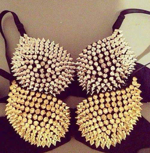 Gold & Silver Studded Bra's available on World Of Glamour :) x Shop: www.worldofglamoursa.com