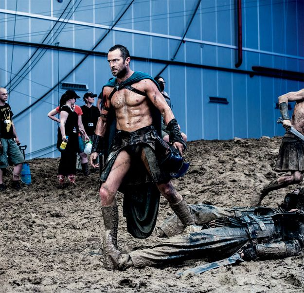 He looks outstanding in a loincloth. | 23 Reasons Sullivan Stapleton Is Your New Crush