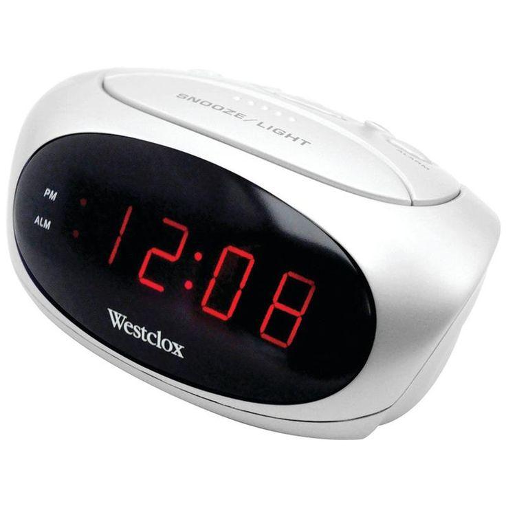 Westclox Super-loud Led Electric Alarm Clock (white)