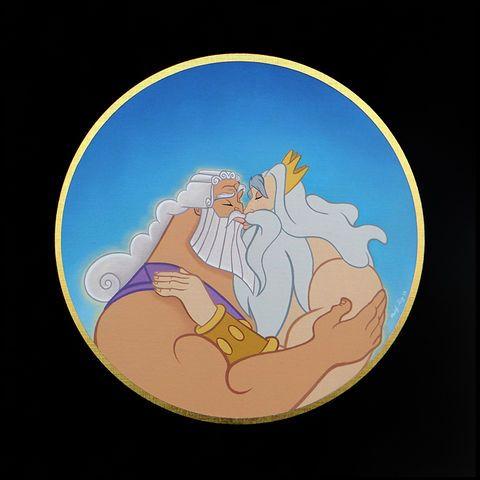 Zeus and King Triton