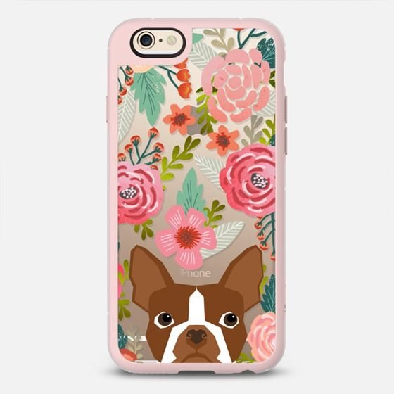 Boston Terrier light brown red coat pet portrait terrier iphone6 clear cell phone case pet dog gifts - New Standard Case