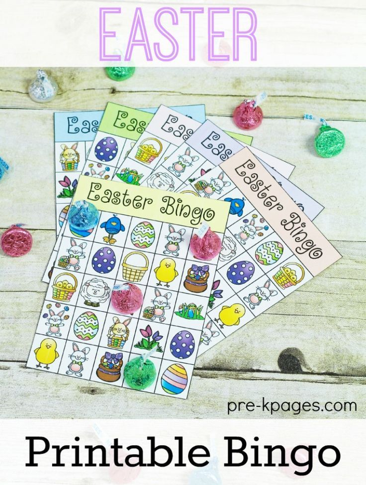 Printable Easter Bingo Game. Perfect for home or your classroom party in preschool or kindergarten!