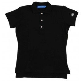 Ladies Plain Polo Shirt - Black £65.00- Complete with lock stitched Polistas branded buttons and our traditional classic feminine fit, this 100% cotton pique twill weave polo is the epitome of classic polo style. The Plain Polo is casual enough for the house and stylish enough for the polo field; whether your competing or cheering on your favourite team.