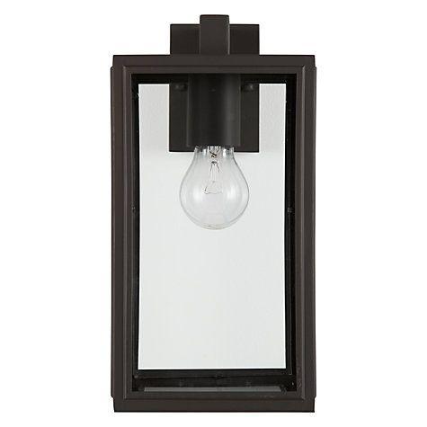 Buy John Lewis Crompton Outdoor Glass Lantern, Coffee Online at johnlewis.com