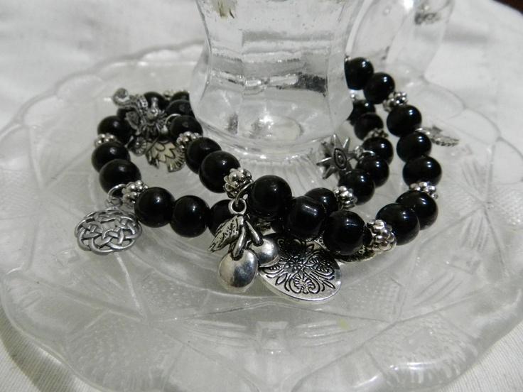 Double black Onyx bracelet