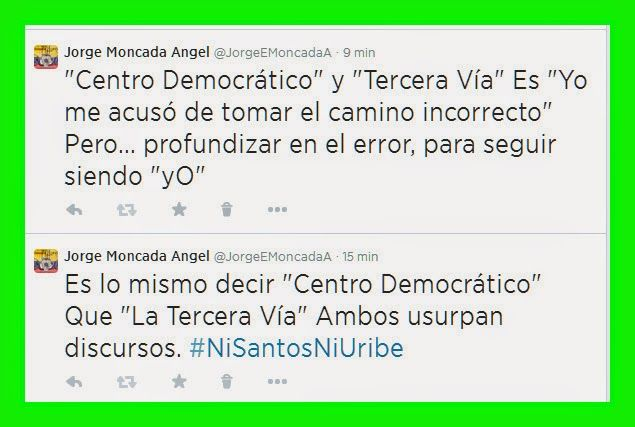 Estafa De La Tercera Vía y El Centro Democrático,Es  El Fín De La Oposición En Colombia.