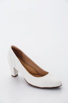 Fehér Piccadilly comfort Női Magassarkú cipő
