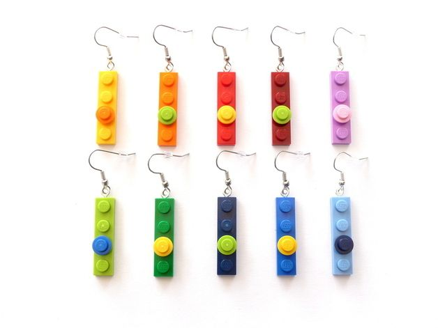 LEGO® Earrings – Upcycling Lego Jewelry Rainbow   – schmuck