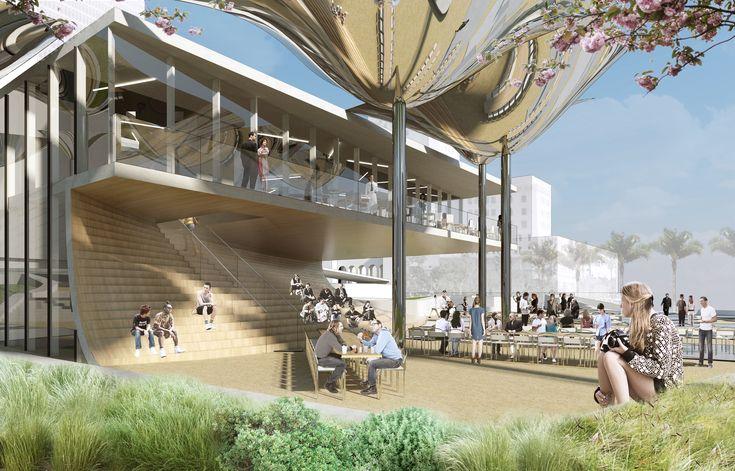 OMA, MLA, e IDEO são escolhidos para projetar um novo parque no centro de Los Angeles,© OMA