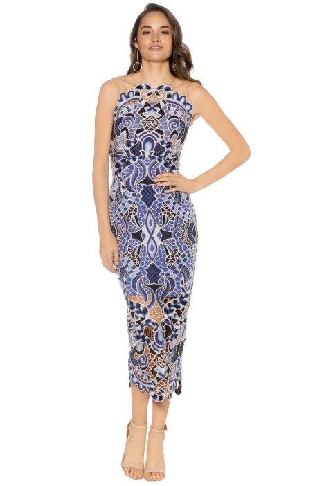 Thurley - Blues Festival Dress - Blue - Front