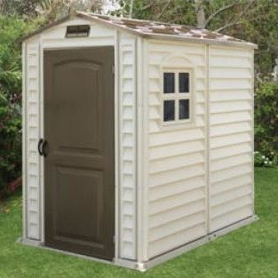 4 Ft. W x 6 Ft. D Fire Retardant Vinyl Storage Shed