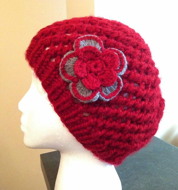 Burgundy Women's Knit Hat/Soft knit hat by Knitkozi, $25.00 For more selection of these beautiful scarves and hats visit: https://www.etsy.com/ca/shop/Knitkozi?ref=si_shop