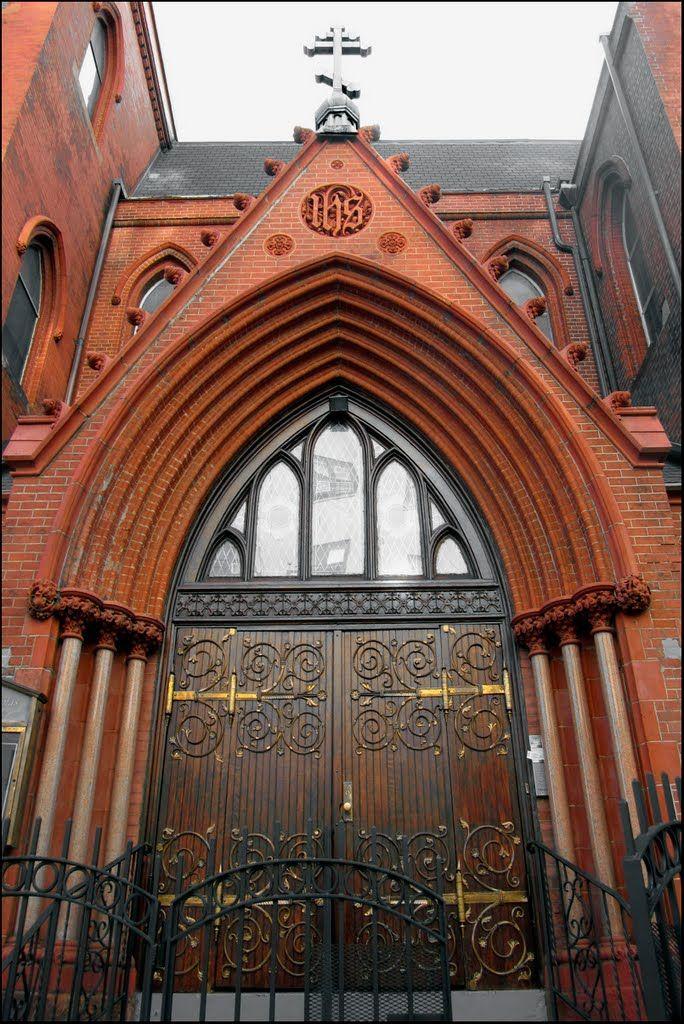 Doors, St. Nicholas of Myra Carpatho-Russian Orthodox Church - 155 Avenue A, NYC  - December 2010