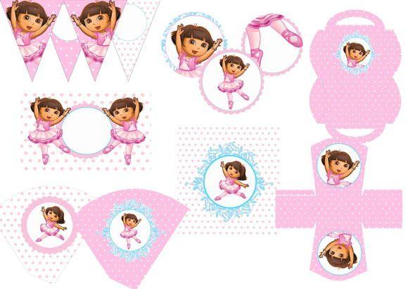 Kit Dora Aventureira Bailarina: Cup Cakes, Dora Adventurous, Festa Kids, Aventureira Bailarina, P Tags, Kids Para, Cups Cakes 1, Da Dora, Cups Cakes 3