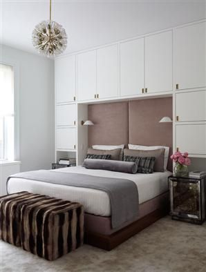 great space saving wall/headbord combo