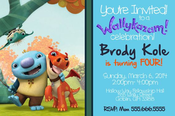 Wallykazam Birthday Invite by MButlerDesign on Etsy, $11 ...
