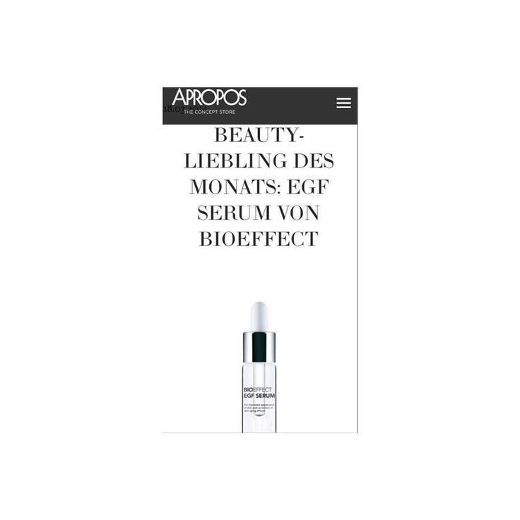 B I O E F F E C T E G F  S E R U M @apropos_store  #cleanbeauty #only7ingredients #skincare #iceland #getthebioeffect  by bioeffect_de