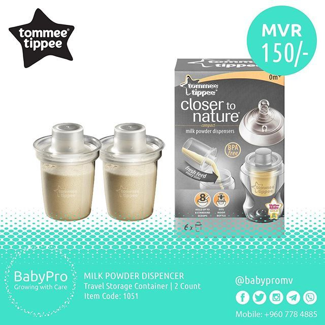 Tommee Tippee Baby Milk Powder and Formula Dispensers Travel Storage Container BPA-Free