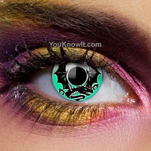 Alchemy Emerald Dragon Contact Lenses (Pair)