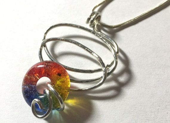 Handmade Wirework  Loopy Squiggle Pendant / Fused by cyvonneh