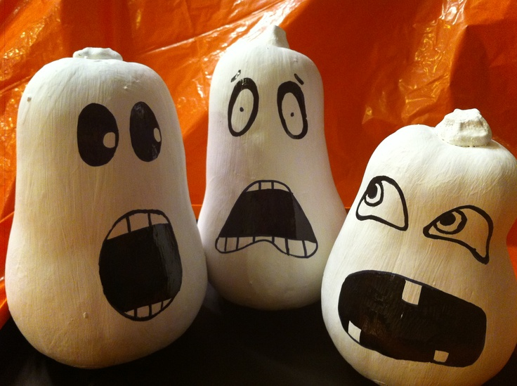 Painted Squash and other Halloween ideas at: royalnonsense.com