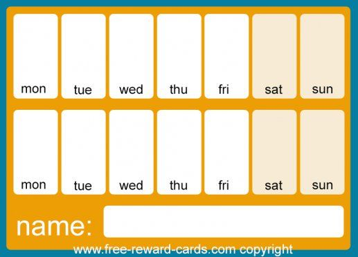 Countdown calendar two weeks orange This is a simple countdown calendar that you can fill in yourself for two weeks. Free printable via www.free-reward-cards.com At request of a family house, where they use such a plasticized countdown calendar for each child. You can write on it with a whiteboard pen or stick stickers and adjust the countdown calender every time again. For example, you can work or look forward to something for two weeks, such as a day out or a visit. This gives children a…