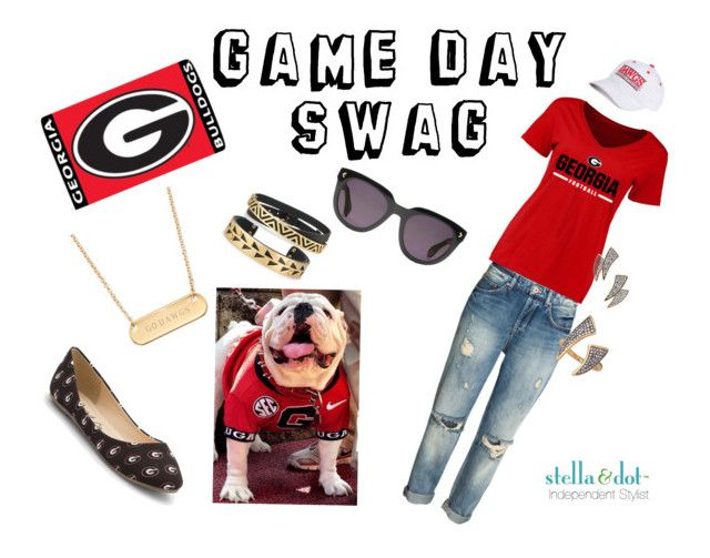 """Georgia Bulldogs - Game Day Swag"" by april-schmelzel on Polyvore featuring Spirit Co., Game Time and Stella & Dot"