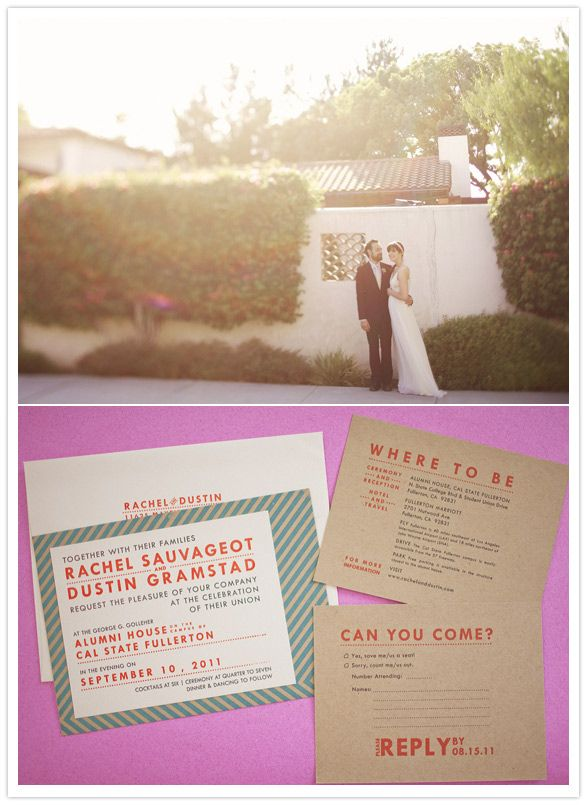 Colorfully crafted California wedding: Rachel + Dustin | Real Weddings | 100 Layer Cake