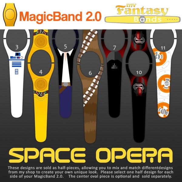 Star Wars inspired MagicBand 2.0 decals by My Fantasy Bands www.myfantasybands.com . . . .  Disney Vacation Magic Band Bands decals decal skin skins cover covers