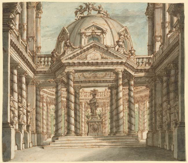 Antonio Galli Bibiena Design For The Decoration Of A Palace Salon